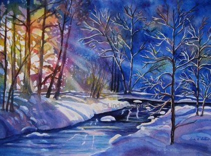 """Winter Rays"" SOLD. Prints $35."